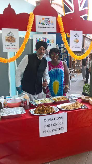 Andy Singh and his samosa stall