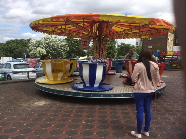 Teacup ride on the Piazza